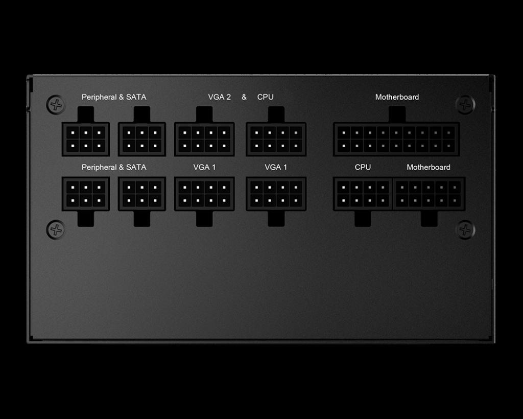 MSI MPG A650GF 650W 80 Plus Gold modularne złącza