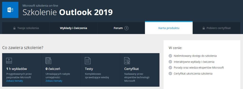 Poznaj Outlook 2019