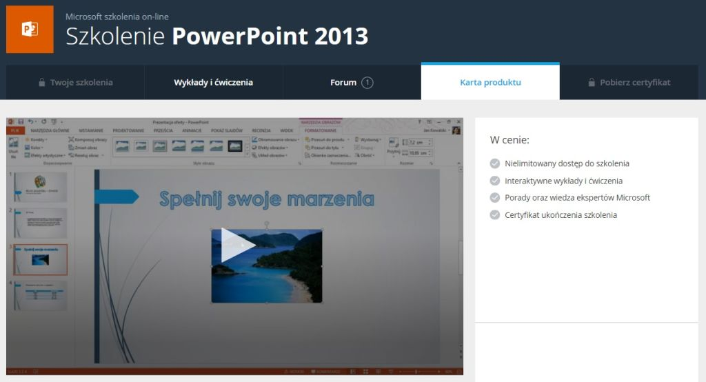 PowerPoint 2013 Karta produktu