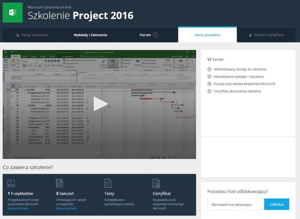 Poznaj Project 2016
