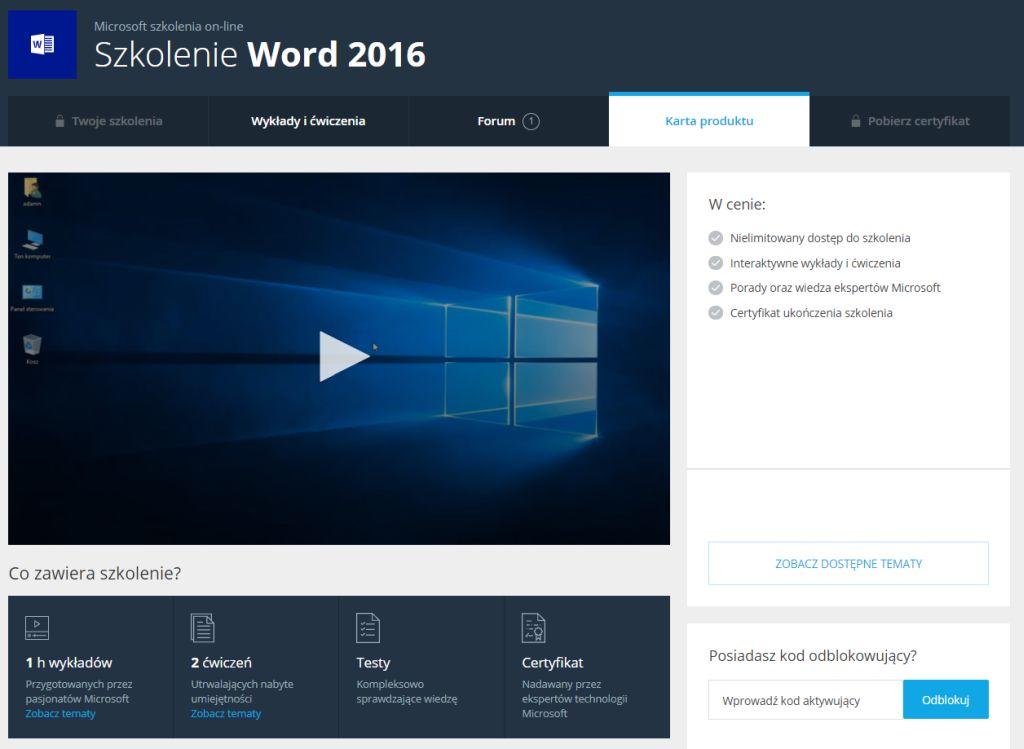 Poznaj Word 2016